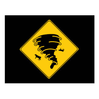 Road Sign- Tornado Postcard