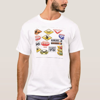 Road signs and traffic light design T-Shirt