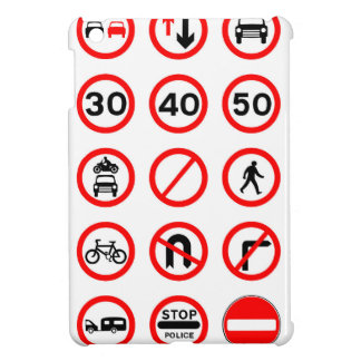 Road Signs - Red Round Case For The iPad Mini