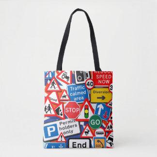 Road Signs Tote Bag