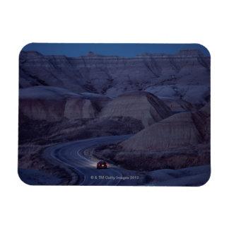 Road through Mountain Range Rectangular Photo Magnet