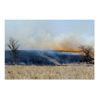 Road Through the Prairie Burn 24 x 16 Poster