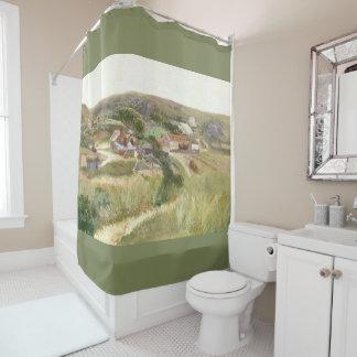 Road Thru Meadow Hillside Homes Shower Curtain