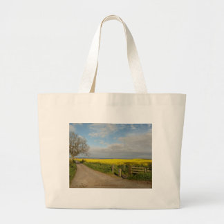 """Road to Beach at Alnmouth"" Large Tote Bag"