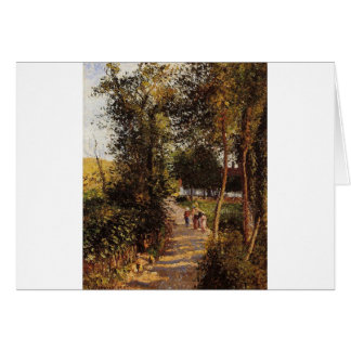 Road to Berneval-le-Petit by Camille Pissarro Card