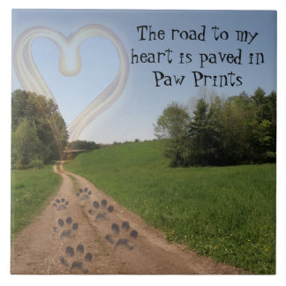 Road to my Heart 6 inch tile