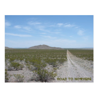 Road to nowhere postcard