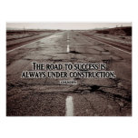 Road To Success Inspirational Poster