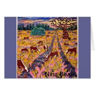 """Road to the Cattleguard"" 4x4', 2013, Nina Beall Card"