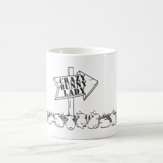 ROAD TO THE CRAZY BUNNY LADY CLASSIC WHITE COFFEE MUG