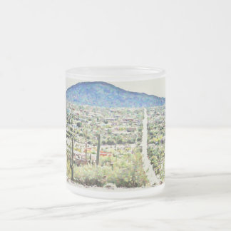 Road to Tonto Painting Frosted Glass Mug