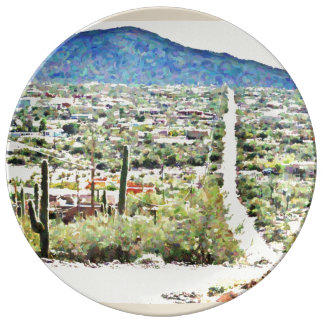 Road To Tontos Oil Painting Porcelain Plate