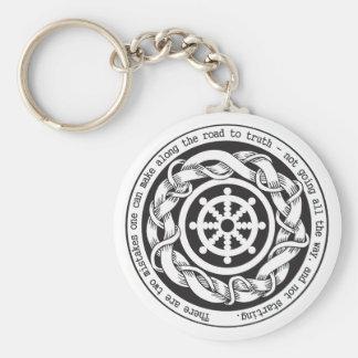 Road to Truth Dharma Wheel Keychain
