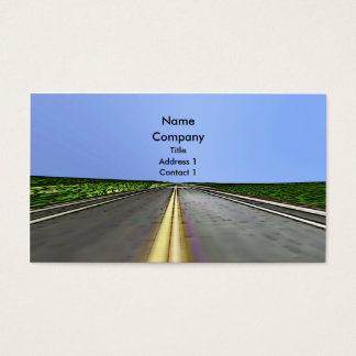 Road Travel - Business Business Card