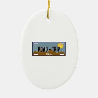 Road Trip Ceramic Ornament