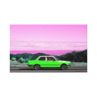 Road Trip (Green/Pink) canvas print