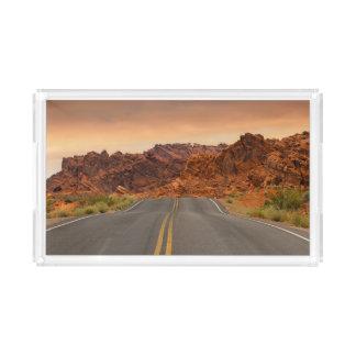 Road trip sunset acrylic tray