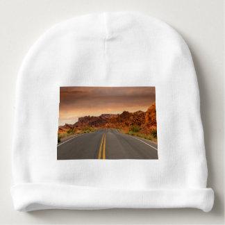 Road trip sunset baby beanie