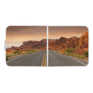 Road trip sunset beer pong table