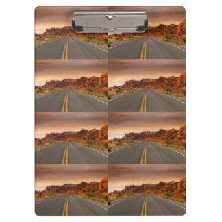 Road trip sunset clipboard