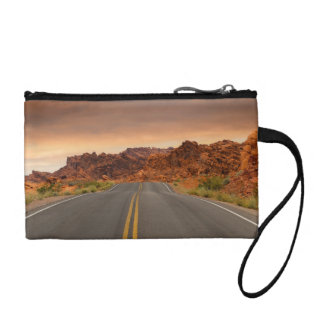 Road trip sunset coin purse