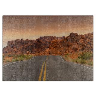 Road trip sunset cutting board