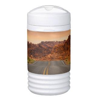 Road trip sunset drinks cooler
