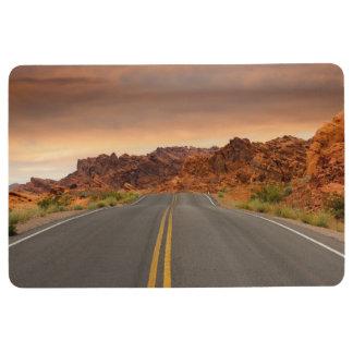 Road trip sunset floor mat
