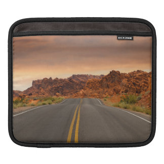 Road trip sunset iPad sleeve