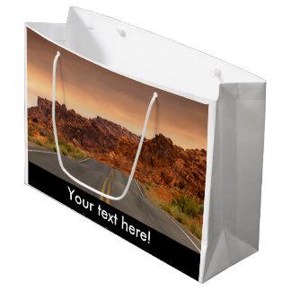 Road trip sunset large gift bag