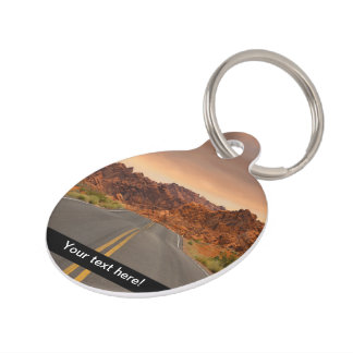 Road trip sunset pet tag