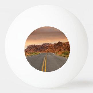 Road trip sunset ping pong ball