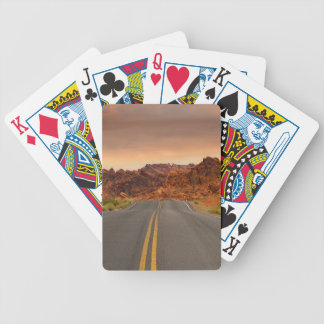 Road trip sunset poker deck
