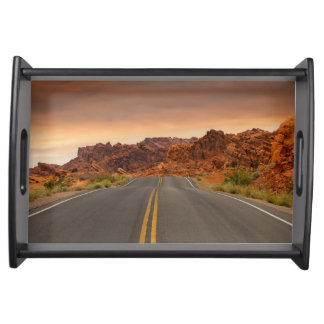 Road trip sunset serving tray