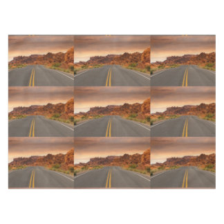 Road trip sunset tablecloth