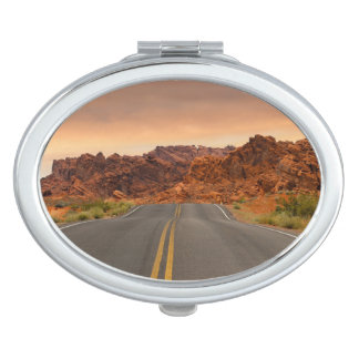 Road trip sunset travel mirror