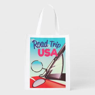 Road Trip USA Reusable Grocery Bag