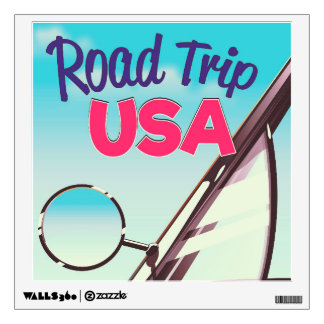 Road Trip USA Wall Sticker
