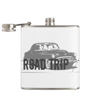 Road Trip Vintage Car Hip Flask