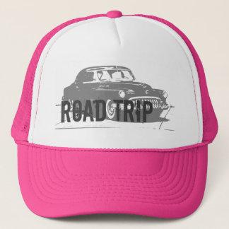 Road Trip Vintage Car Trucker Hat