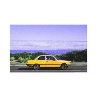 Road Trip (Yellow/Purple) canvas print