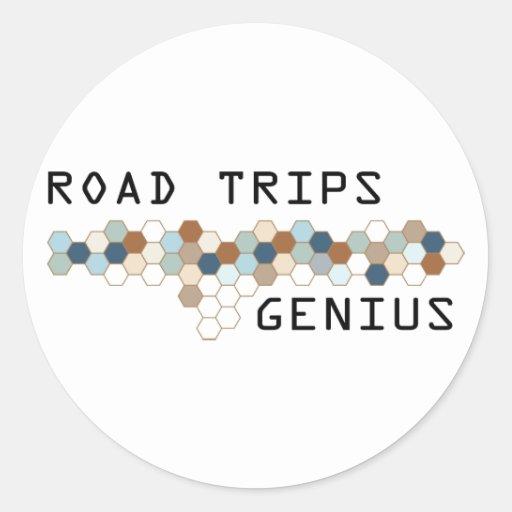 Road Trips Genius Round Sticker