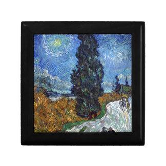 Road with Cypress and Star Keepsake Box