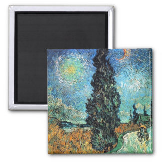 Road with Cypress and Star Magnet