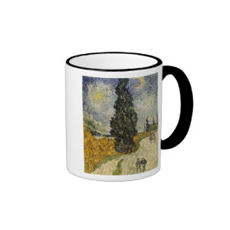 Road with Cypresses, 1890 Mugs