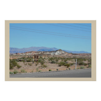 Road with Mountains Poster