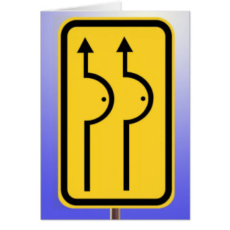 Road Work Ahead Card