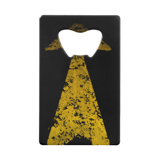 Road Yellow Painted Arrow Wallet Bottle Opener