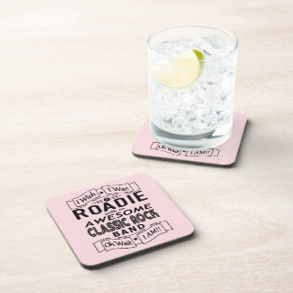 ROADIE awesome classic rock band (blk) Coaster