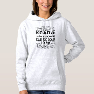 ROADIE awesome classic rock band (blk) Hoodie